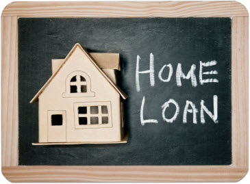 Blackboard with a house caricature on it with the words Home Loan written in chalk - Home Mortgage Tips